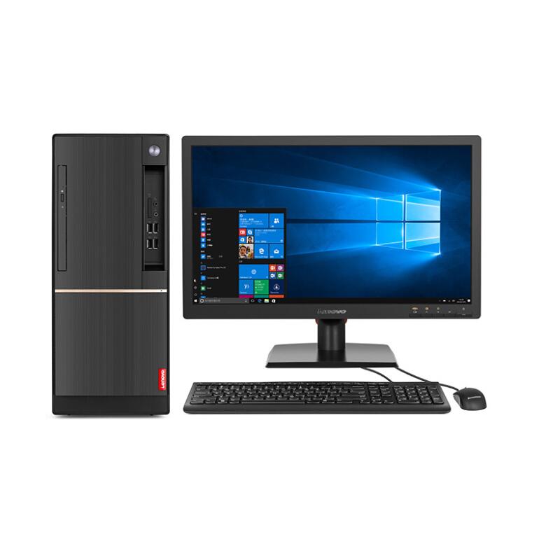 联想(Lenovo)扬天T4900d 商用办公台式电脑整机 (I5-7400 8G 1T 2G独显 千兆网卡 WIN10)27英寸