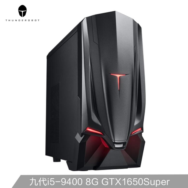 雷神(ThundeRobot)911黑幽灵A505s 英特尔九代i5 游戏台式电脑主机(i5-9400 8G GTX1650Super 256G+1T )