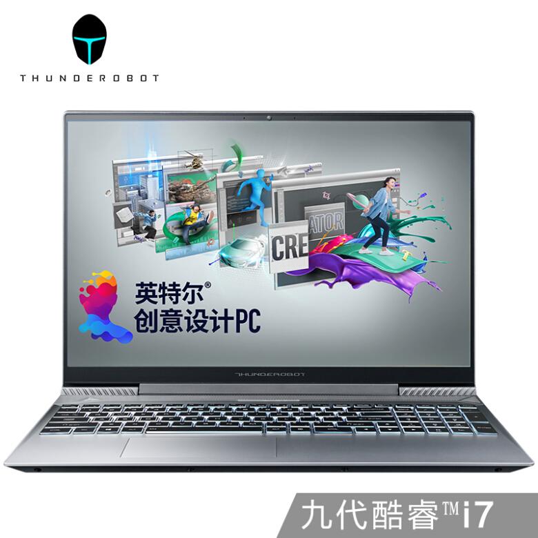 雷神(ThundeRobot)MasterBook 15.6英寸创意设计笔记本电脑九代酷睿i7-9750H 256GSSD+1T 144Hz GTX1650
